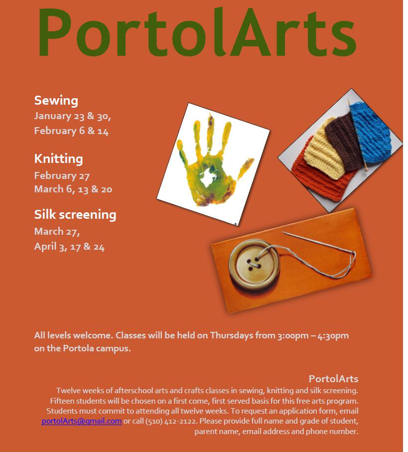 Portola Arts Flyer
